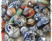 On Hold for T - Multcolor paper beads - Eco-friendly - Destash - Boho chic components - Jewelry supplies - Choose your mix - gift for her