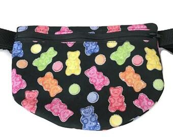 Travel Fanny Pack - Festival Fanny Pack - Bum Bag - Waist Bag - Festival Belt - Hip Bag for Women - Gummy Bear Fanny Pack