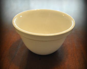 Antique Ironstone, W. Adams & Sons Small Mixing Bowl, 1890's Ironstone, 3 in. tall