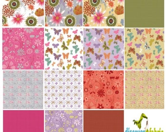 Wild Wonder Fabric Collection 15 Piece Fat Quarter Fabric Bundle