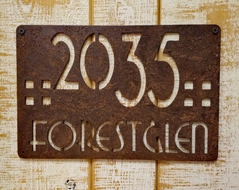 Rusted Address Sign