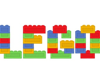 Lego blocks, lego bricks, lego brick block Font, machine embroidery assorted sizes, boys alphabet embroidery designs all letters included