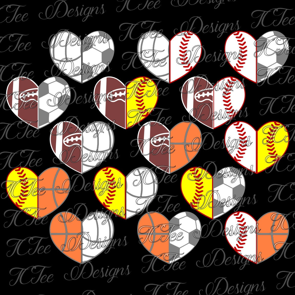 sports mom split hearts svg design download vector cut clip art basketball hoop and ball basketball hoop clipart png