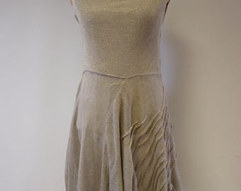Special price. Handmade transparent natural linen dress, L size.