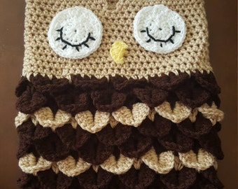 Owl snuggie with hat