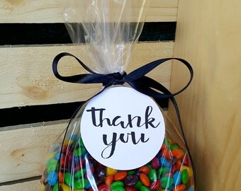 Thank You Bags, Thank You Treat Bags, Treat Bags, Candy Bags, Thank You Candy Bags, Cellophane Candy Bags, Cellophane Treat Bags, Treat Bags