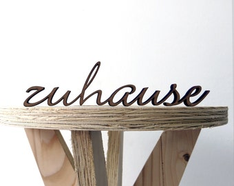 Zuhause - 3D wood lettering