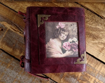Juliette: Leather journal, Handmade