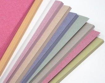 Recycled A4 Ten Pastel Colour Sugar Paper 100gsm Pastel Colour Craft Paper Stock Choose Quantity