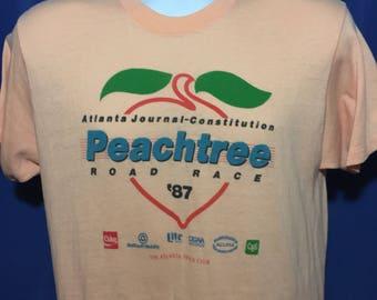 Vintage 1987 Peachtree Road Race t shirt thin soft Atlanta Georgia *S/M