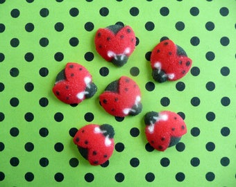 22 Edible Sugar Ladybug Dec-Ons® Cupcake Toppers Cake Toppers Decorations Lady bug Garden  Party Mother's Day