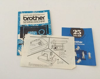 Vintage Brother Sewing Machine Owner's Manual Patch-o-Matic, How-To, User's Guide, Instruction Book Manual