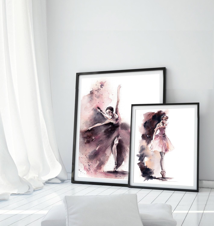 ballerinas print set set of 2 ballet fine art print