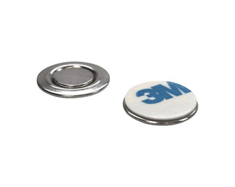 Small Round Magnetic Fastener/ID Badge Holder with Adhesive (10 Pack)