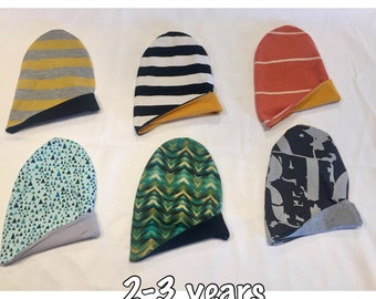 RTS Reversible Slouchy Beanies 2-3 yrs