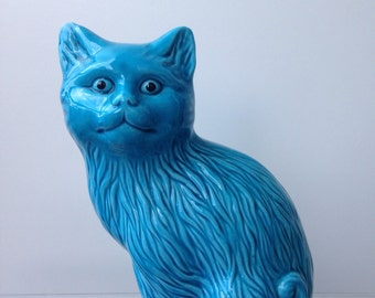 Chinese turquoise cat vintage