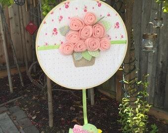 Embroidery hoop art, Hoop Fabric for decor, , Customized, Toodler decor