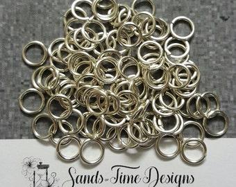 Sterling Silver Saw Cut Open JUMP RINGS 6mm ID, 16 gauge/1.3mm wire - 100 rings