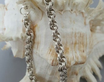Handmade Chainmaille Bracelet - Double Spiral Weave