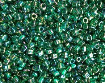Miyuki 5/0 Triangle Beads  - Iris Teal TR5-1159 - 20g