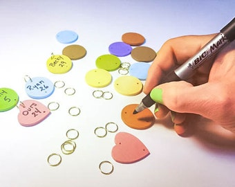 Extra Rounds/Hearts for Family Birthday Boards - Birthday Tags - Anniversary Tags - Special Day Markers - Birthday Board Accessory