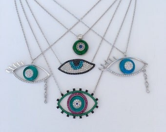 All Eyes On Me sterling silver necklaces