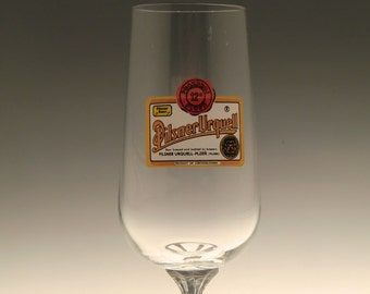 Czech Bohemian Collector Beer Glass Pilsner Urquell Czechoslovakia