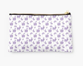Pencil Case, MakeUp Bag, Zipper Pouch, Cosmetic Bag, Stationery Organiser - Baby Bunnies, Bunny, Rabbit