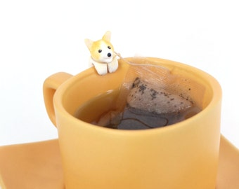 Welsh Corgi Tea Bag Holder - Pembroke Corgi Tea bag Holders - Dog Lovers Gifts - Tea Cup Decor - Mug Decor - Bowl Decor - Tea Lovers Gifts