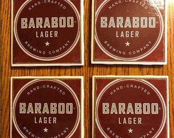 Tile coasters from beer box art/beer logos/drink coasters/barware