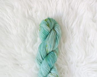 treasure lagoon - peapod sock yarn - merino wool/nylon