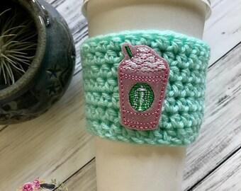"""The """"Frappe"""" Cozies / Coffee Cozie / Tea Cozie / Tumbler Cozie / Crochet Cozie"""