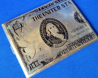 1970s Hundred Dollar Bill Cigarette Case