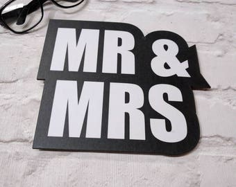 MR & MRS large High Quality Wedding Photo Booth WordProp  013-402