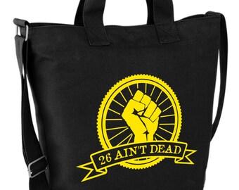 26 Ain't Dead (Fist) Canvas Day Bag Retro Graphic Design NEW