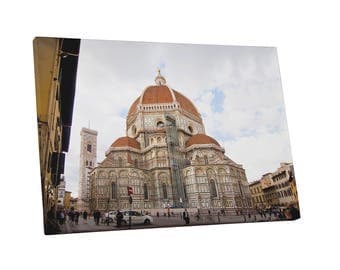 Castles and Cathedrals Florence Basilica of Santa Maria del Fiore Gallery Wrapped Canvas Print