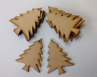 wooden craft shape  XMAS TREE  embellishments decoupage scrapbooking