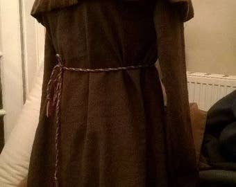 Early Medieval Mans pure wool Skjoldehamn hood reconstruction for Viking and Saxon Re-enactment or Larp