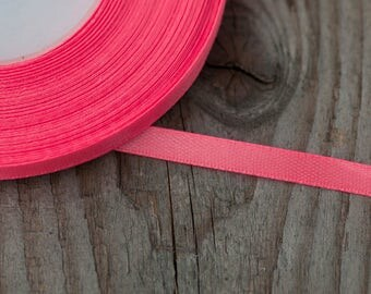 6mm Neon Pink Ribbon 35 yards Thin Satin Ribbon Craft Ribbon Wedding Ribbon Wedding Supply DIY Wedding Supply Party Ribbon Decorative Ribbon