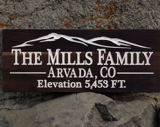 Personalized Family Name Signs Custom Wood Wedding Gift Last Name Established Sign Custom Wood Sign Carved Wood Sign 5 Year Anniversary Gift