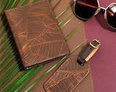 Undercover Leather travel set  Passport cover and luggage tag gift box