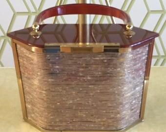 Vintage Majestic Lucite Handbag