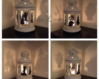 Beauty and the Beast Inspired Lantern, Tea light holder, Birthday gift