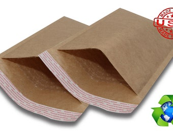 325 5 x 10 Premium Self Seal Natural Kraft Bubble Mailers / Bubble Wrap Padded Envelopes / Packaging Supplies / Shipping Supplies Jiffy Bag