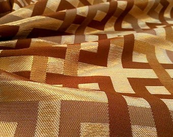Gold and brown jacquard fabric #842