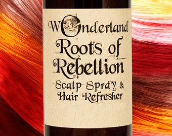 Roots of Rebellion Hair Spray, Hair Refresher, Root Spray, Scalp Spray, Hair Perfume, Calming Scalp Spray, Balancing Hair Spray, All Natural