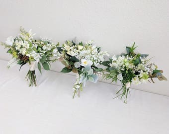 Bridesmaid Bouquet, Wedding Bouquet, Bouquet Set, Silk Flower Bouquet, Wedding Flowers, Silk Bouquet, Wedding Package, Flower Bouquet