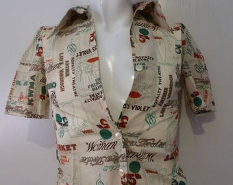 vintage retro disco shirt