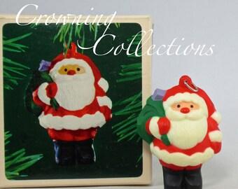 1983 Hallmark Jolly Santa Keepsake Ornament Vintage Little Trimmers Santa Claus Christmas Collection
