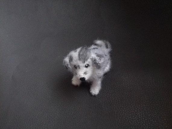 Handmadeworksbyyana Puppy Border Collie Marble Stuffed Animal Pet